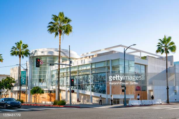General views of The Paley Center for Media boarded up as a precautionary measure in preparation for the 2020 Presidential Election on November 3rd...