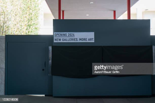 General Views of the partially demolished LACMA museum building on August 26, 2020 in Los Angeles, California.