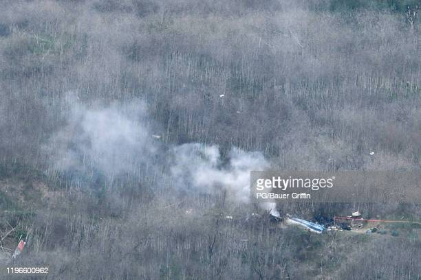 General views of the scenes surrounding the death of Kobe Bryant and his daughter Gianna MariaOnore Bryant due to a helicopter crash on January 26...