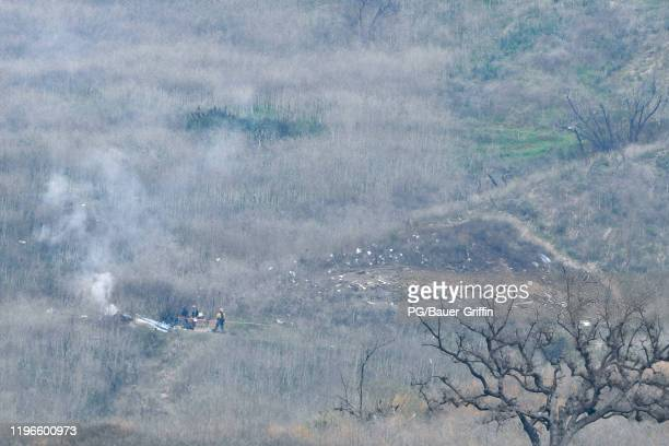 General views of the scenes surrounding the death of Kobe Bryant and his daughter Gianna Maria-Onore Bryant due to a helicopter crash on January 26,...