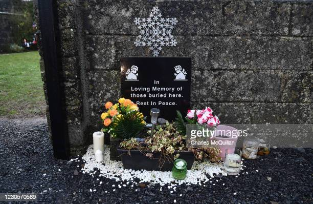 General views of the shrine which stands on a mass burial site which was formerly part of the Bon Secours Mother and Baby home on January 13, 2021 in...