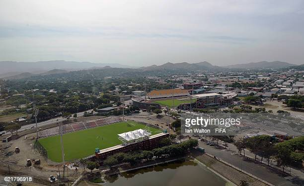 General views of the Sir John Guise Stadium where the opening match for the FIFA U20 Women's World Cup will be played on November 9 2016 in Port...