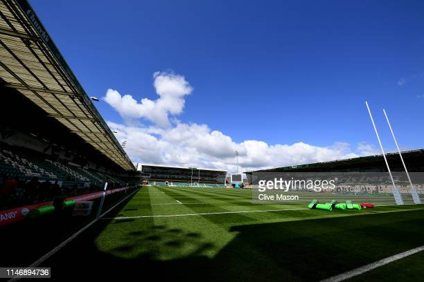 General views of the stadium ahead of the Gallagher Premiership Rugby match between Northampton Saints and Worcester Warriors at Franklin's Gardens...