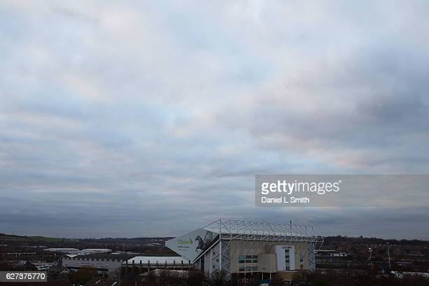 General views of the stadium ahead of the Sky Bet Championship match between Leeds United v Aston Villa at Elland Road on December 3 2016 in Leeds...
