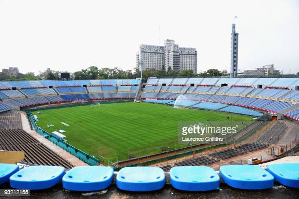 General Views of the stadium before the 2010 FIFA World Cup Play Off Second Leg Match between Uruguay and Costa Rica at The Estadio Centenario on...
