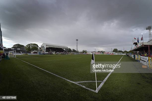 General views of the stadium during the Champions League 2nd round qualifying game between Dundalk FC and BATE Borisov at Oriel Park on July 22 2015...