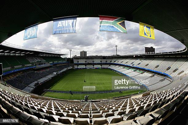 General views of the stadium during the FIFA Confederations Cup match between Brazil and Egypt at The Free State Stadium on June 15, 2009 in...