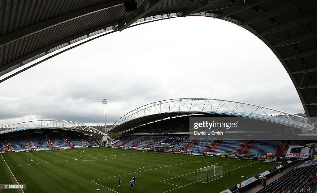 General views of the stadium prior to kick off in the Sky Bet Championship match between Huddersfield Town and Sheffield Wednesday at Galpharm Stadium on April 2, 2016 in Huddersfield, United Kingdom.