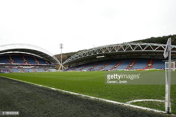 General views of the stadium prior to kick off in the Sky Bet Championship match between Huddersfield Town and Sheffield Wednesday at Galpharm...