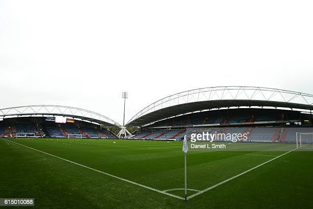 General views of the stadium prior to the Sky Bet Championship match between Huddersfield Town and Sheffield Wednesday at John Smith's Stadium on...