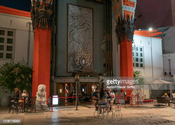 General views of the TCL Chinese Theatre courtyard now converted into an outdoor cocktail lounge With COVID19 restrictions still in place for indoor...