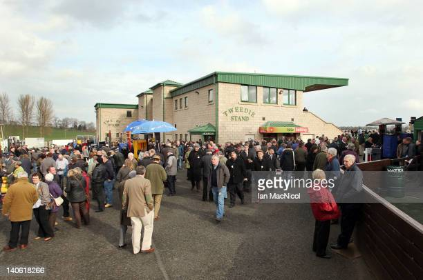 General views of the Tweedie Stand at Kelso racecourse on March 03, 2012 in Kelso, United Kingdom.