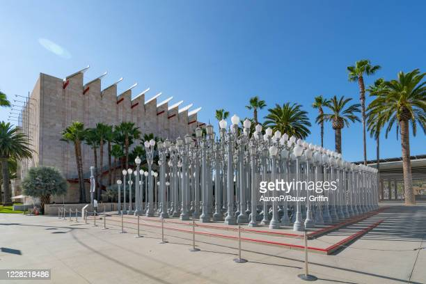 General Views of the Urban Light art installation at LACMA on August 26, 2020 in Los Angeles, California.