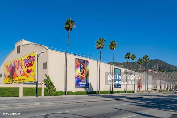 General views of the Warner Brothers film studio lot on July 23 2020 in Burbank California
