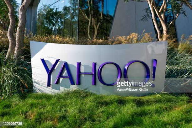 General views of the Yahoo Inc Playa Vista offices on October 15, 2020 in Playa Vista, California.