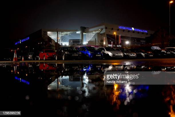 General views of Villa park before the FA Cup Third Round between Aston Villa and Liverpool at Villa Park on January 08, 2021 in Birmingham, England.