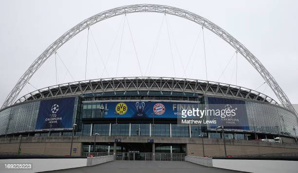 General Views of Wembley Stadium ahead of UEFA Champions League Final at Wembley Stadium on May 22, 2013 in London, England.