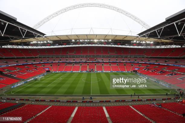 General views of Wembley Stadium during the 2020 UEFA European Championships group A qualifying match between England and Czech Republic at Wembley...