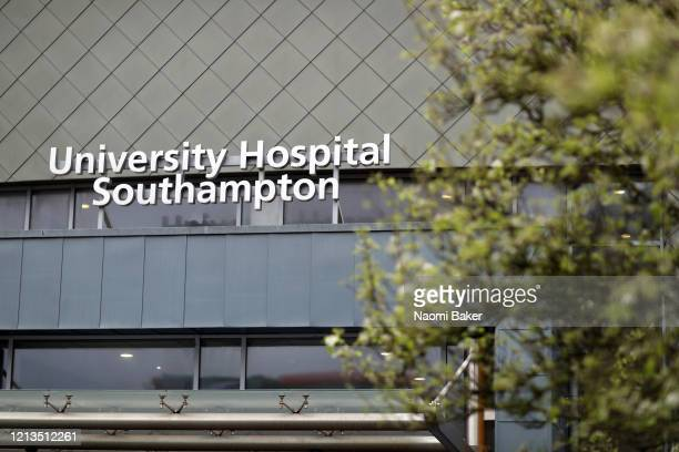 General views outside University Hospital Southampton on March 19 2020 in Southampton England A drug code named SNG001 which was primarily being...