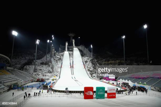 General views prior to the 2017 FIS Ski Jumping World Cup test event For PyeongChang 2018 at Alpensia Ski Jumping Center on February 14 2017 in...