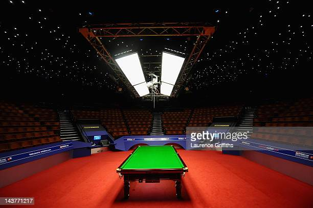 General views prior to the Betfred.com World Snooker Championship Semi Final match at Crucible Theatre on May 3, 2012 in Sheffield, England.