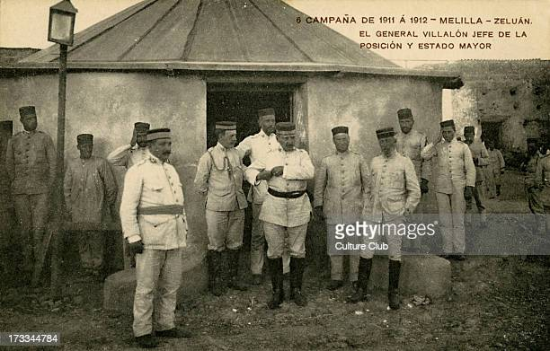 General Villalon Jefe at a Spanish camp in Melilla 1912 Melilla Morocco was the site of Berber raids in 1911 which would lead to the Rif War of 19206