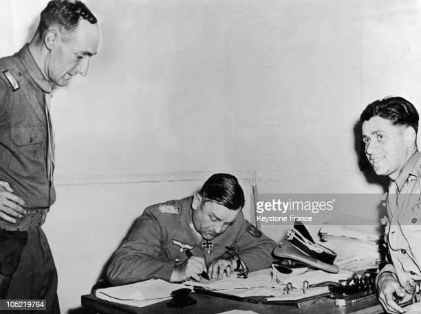 General Von Choltitz Signed The Surrender Of Nazi Troops In Paris 1944