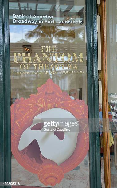General vuews of the The Phantom Of The Opera media call presented by Broadway In Ft Lauderdale at Marti's New River Bistro on November 20, 2014 in...