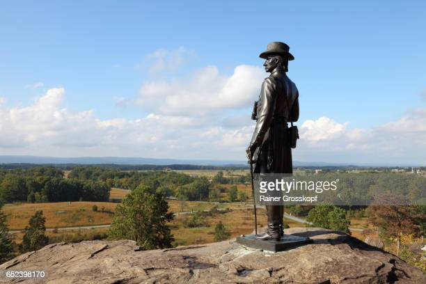 general warren at little round top - rainer grosskopf fotografías e imágenes de stock