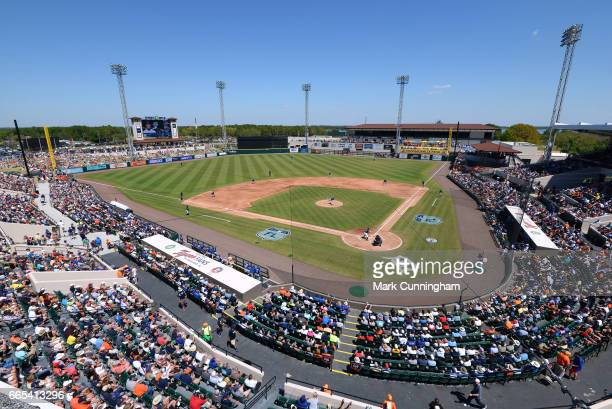 A general wideangle view of Publix Field at Joker Marchant Stadium during the Spring Training game between the Detroit Tigers and the New York Mets...