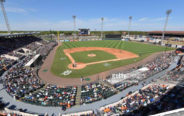 A general wideangle view of Publix Field at Joker Marchant Stadium during the Spring Training game between the New York Yankees and the Detroit...