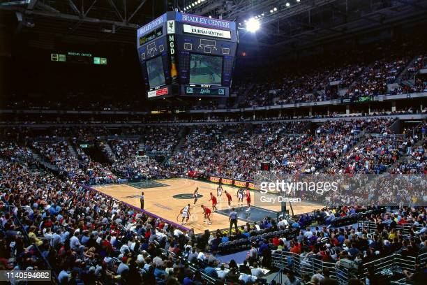 A general wideshot of the arena as seen during the game between the Chicago Bulls and the Milwaukee Bucks on March 29 1998 at the BMO Harris Bradley...