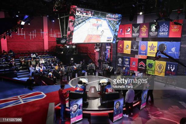 A general wideshot of the studio as the 76ers Gaming Club takes on the Knicks Gaming during Week 4 of the NBA 2K League regular season on May 3 2019...