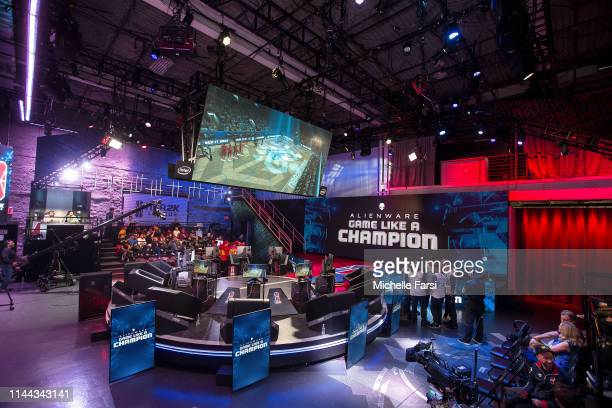 A general wideshot of the studio is seen during Week 5 of the NBA 2K League regular season on May 17 2019 at the NBA 2K Studio in Long Island City...