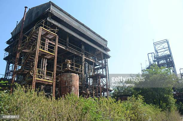General wiev of the Bhopal gas tragedy factory on December 2 2014 in Bhopal India On the night of December 2 deadly gas leaked from the plant...