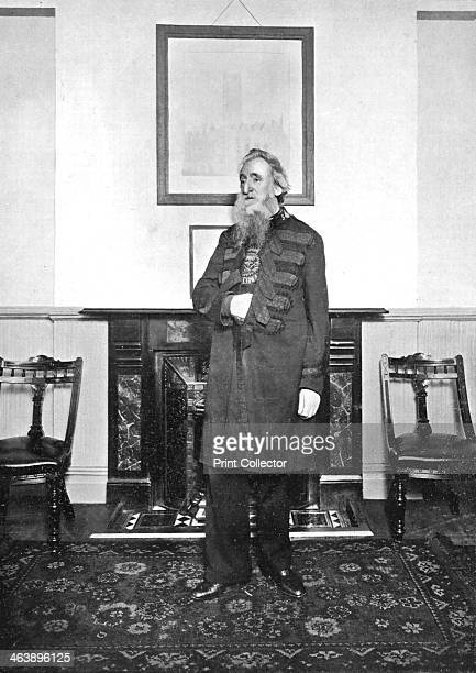 'General' William Booth evangelical social worker and founder of the Salvation Army 1903 Booth photographed in the meeting room of the Salvation...