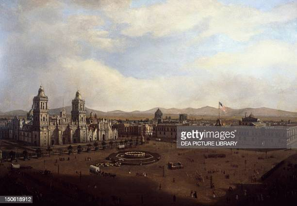 General Winfield Scott entering Mexico City, 1847. Mexican-American War, Mexico, 19th century.