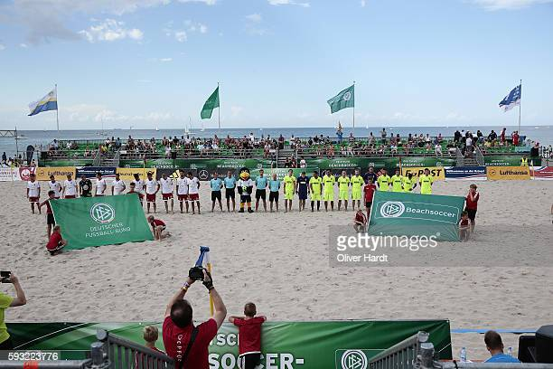 A generale view before the final match match between Ibbenbuerener BSC and Beach Royals Duesseldorf on day 2 of the 2016 German Beach Soccer...