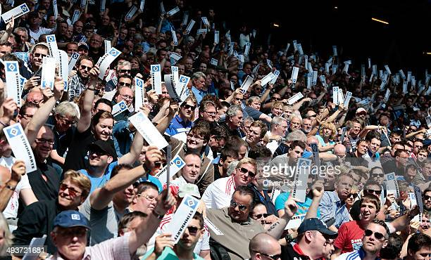A generale view during Hamburger SV General Meeting at Imtech Arena on May 25 2014 in Hamburg Germany