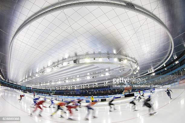 Generale view during ISU World Cup Speed Skating Day 1 on December 9, 2016 in Heerenveen, Netherlands.