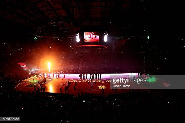 A generale view during the DKB REWE Final Four Finale 2016 between SG Flensburg Handewitt and SC Magdeburg at Barclaycard Arena on May 1 2016 in...