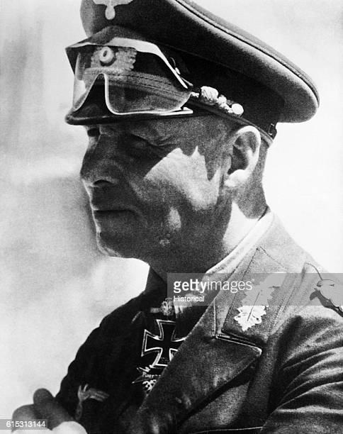 Generalfeldmarschal Erwin Johannes Eugen Rommel the brilliant tank commander who headed Nazi Germany's North Afrika Corps Implicated in a plot on...