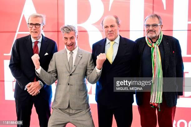 CEO Generali Germany and global sponsor Arte Generali Giovanni Liverani Italian artist Maurizio Cattelan Generali Group CEO Philippe Donnet and...