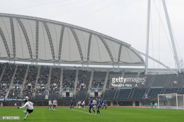 A generall view during the JLeague J1 Promotion PlayOff semi final match between Avispa Fukuoka and Tokyo Verdy at Egao Kenko Stadium on November 26...