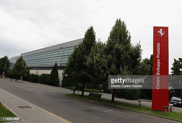 A generall view of the Ferrari Factory during a Ferrari factory tour on July 19 2011 in Maranello Italy Ferrari SpA is an Italian manufacture based...