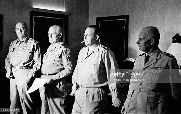 Generals Edmond Jouhaud, Raoul Salan, Maurice Challe And Andre Zeller's Statement of the Coup D'Etat attempt to keep Algeria French on April 21, 1961...