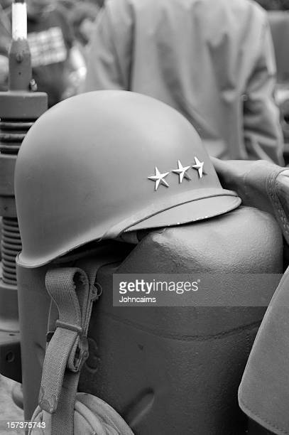 general's helmet. - george patton stock pictures, royalty-free photos & images
