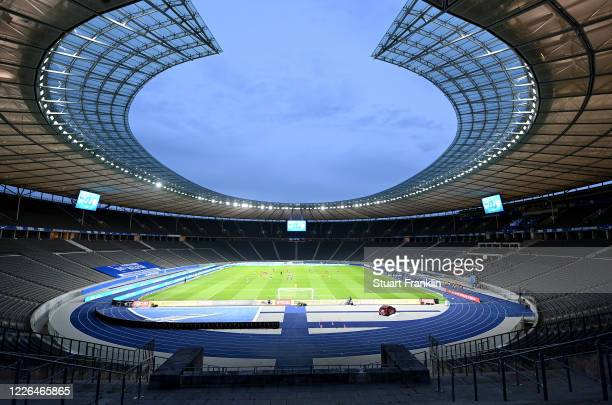 Generalview before the Bundesliga match between Hertha BSC and 1. FC Union Berlin at Olympiastadion on May 22, 2020 in Berlin, Germany. The...