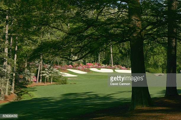 A generalview of the 13th hole during the completion of the third round of The Masters at the Augusta National Golf Club on April 10 2005 in Augusta...