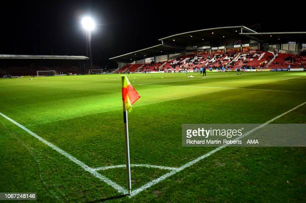 GeneralView of the Racecourse Ground prior to the FA Cup Second Round match between Wrexham and Newport County at the Racecourse Ground on December 1...